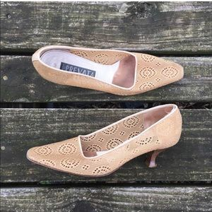 Vintage Prevata Crochet Heels Pumps Shoes